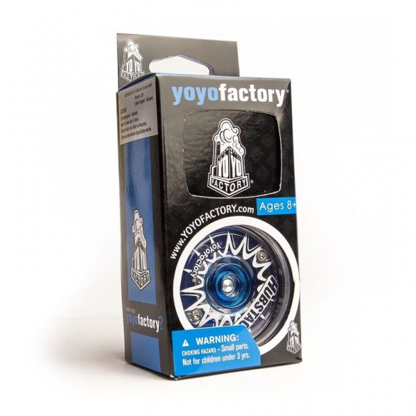 Yoyofactory Hubstack Spinner Yoyo - Blau/Transparent